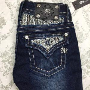 NWT miss me jeans Sz 25 x 34 signature boot